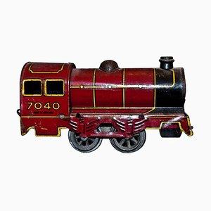 Vintage 7040 Wind Up Locomotive Toy by Wells-Brimtoy, 1930s