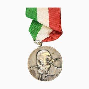 Antique Italian Silver Giuseppe Garibaldi Medal, 1910