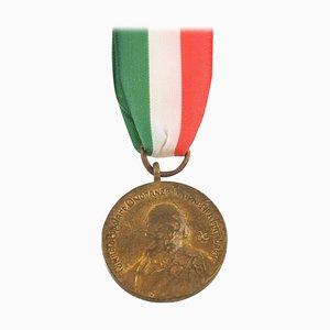Vintage Italian Commemorative Bronze Medal of Garibaldi