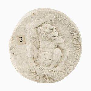 Vintage Plaster Chimpanzee Medal Mold