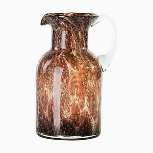 Vintage Italian Bubble Glass Pitcher, 1970s