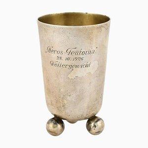 Vintage Art Deco German Silver Mug by Eduard Wollenweber, 1926