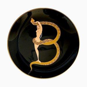 The Alphabet Series B-Plate after Erté, 1986