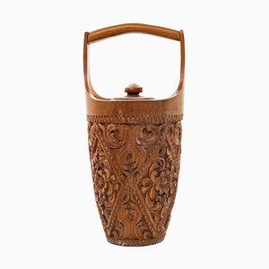 Vintage Wooden Ice Bucket
