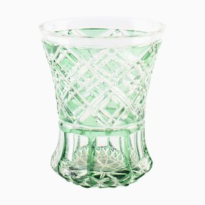 Northern European White and Green Glass, 1970s