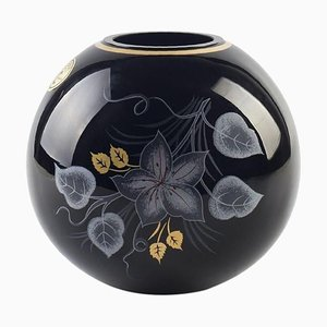 Vintage Northern Europe Glossy Spherical Vase