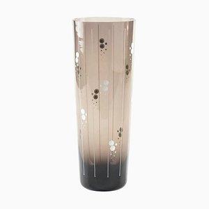 Vintage German Fumé Glass Vase