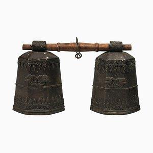 19th-Century Tibetan Bronze Bells, Set of 2