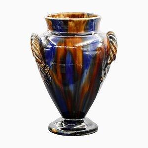 Vintage Vase mit 2 Griffen von Denby Pottery