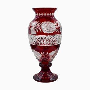 Vintage Mid-Century Bohemian Glass Vase