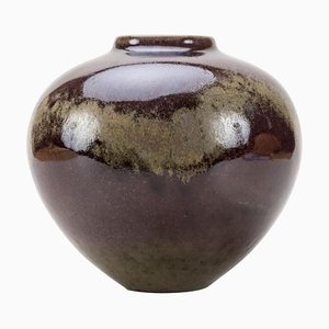 Kugelförmige Keramik Vase von Wendelin Stahl, 2000er
