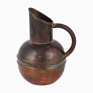 Art Nouveau English Copper Jug by H. Loveridge & Co.