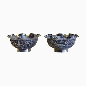 Small Silver Bowls, China, Set of 2