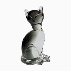 Vintage Murano Glass Cat by Carlo Moretti, 1980s