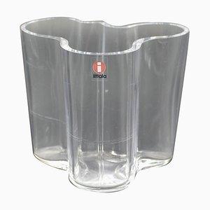 Vase Vintage en Cristal par Alvar Aalto pour Orrefors, 1980s