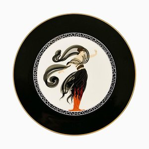 Flames of Love Plate after Erté, 1985