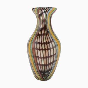Italian Rainbow Glass Vase, 1970s