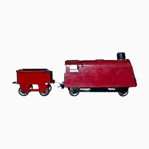 Kleines Vintage Zug- und Beistellspielzeug, 1920er