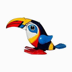 Vintage Wind Up Toucan Spielzeug