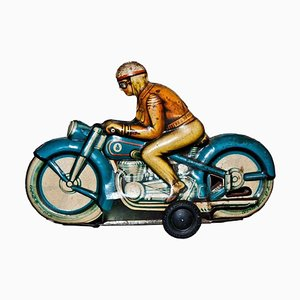 Vintage Friction Motorcyclist Toy, 1960s