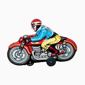 Vintage Italian Motorcyclist Toy from ABM, 1960s