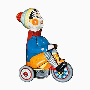 Vintage Wind up Boy on Tricycle Toy, Germany,1930s
