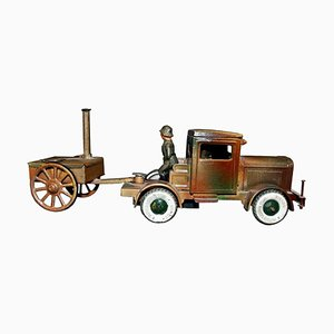 Vintage Military Toy Truck and Trailer Toy