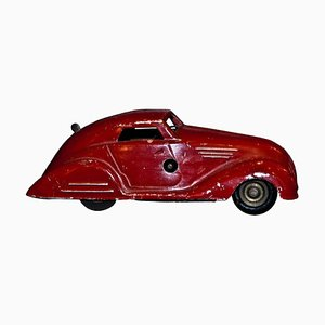 Vintage Wind Up Red Car Toy