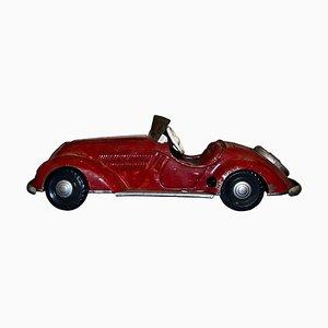 Large Vintage Wind Up Car Toy, 1940s