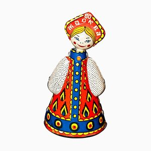 Vintage Moscow Olympics Dancing Russian Doll, 1980er