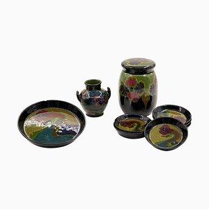 Vintage Keramik Set von Gouda Holland Porcelain, 1920er, Set of 9
