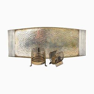 Vintage Silver-Plated Smoke Set, Germany 1950s, Set of 3