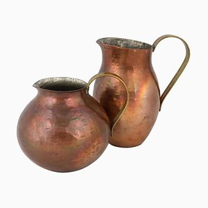 Vintage Copper Pitchers by Harald Buchrucker, Germany, 1950s, Set of 2
