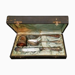 Late-19th Century French Silver Baptism Set, Set of 4