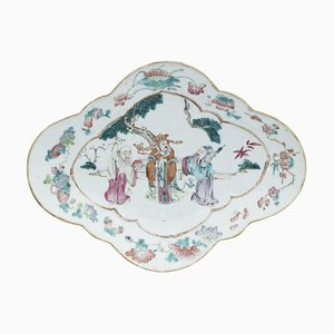 Vintage Chinese Oval Shaped Tray