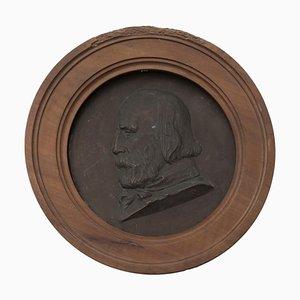 Basrelief aus Bronze mit Portrait von Giuseppe Garibaldi, spätes 19. Jh