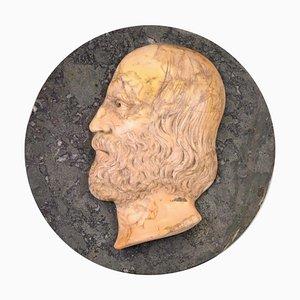 Antikes Flachrelief aus Marmor mit Porträt von Giuseppe Garibaldi, spätes 19. Jh