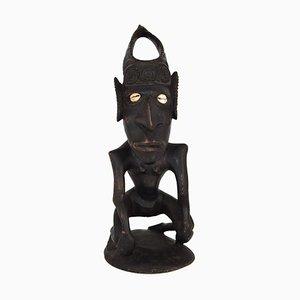 Vintage Figurine aus Holz von Papua-Neuguinea