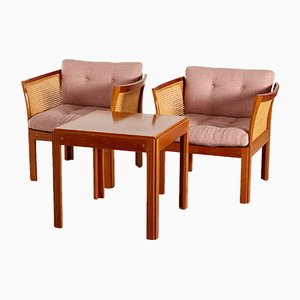 Plexus Living Room Set by Illum Wikkelsø for CFC Silkeborg, 1960s, Set of 3
