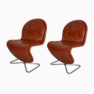 1, 2, 3 Dining Chairs by Verner Panton for Fritz Hansen, 1970s, Set of 2