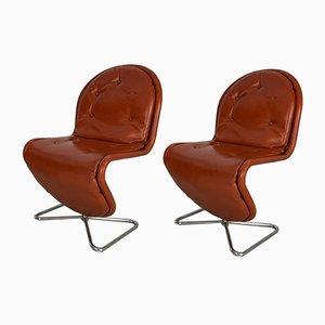 1, 2, 3 Esszimmerstühle von Verner Panton für Fritz Hansen, 1970er, 2er Set