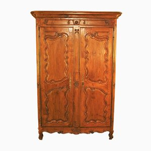 18th Century Louis XV Wardrobe In Cherrywood