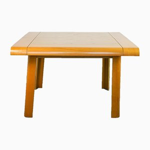 Vintage Pranzo Wood & Curved Maple Wood Folding Table, 1970s