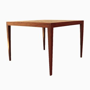 Rosewood Coffee Table with Nils Thorsson Ceramic Tile Inset by Severin Hansen for Haslev Møbelsnedkeri, 1960s