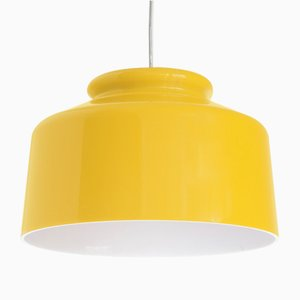 Spanish Yellow Ceiling Lamp from Metalarte, 1970s