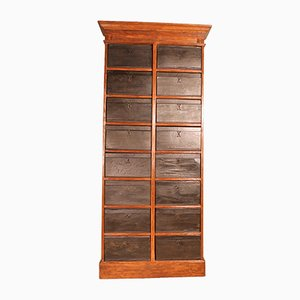 19th Century Cardboard Cabinet with 16 Boxes