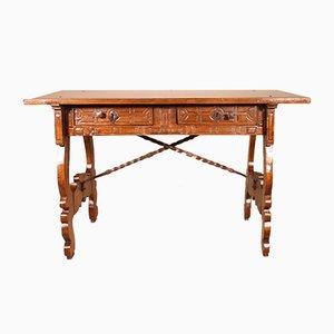 17th Century Spanish Table or Desk in Walnut