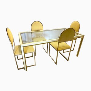 Vintage Dining Table & Chairs Set, 1970s, Set of 5