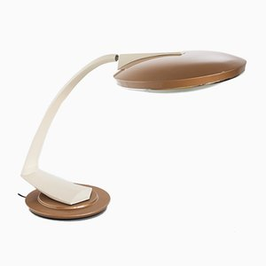 Spanish Gold and Cream 2000 Boomerang Table Lamp from Fase, 1960s