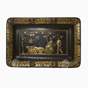 Tablett aus Bronze von Ferdinand Levillain für F. Barbedienne, 19. Jh